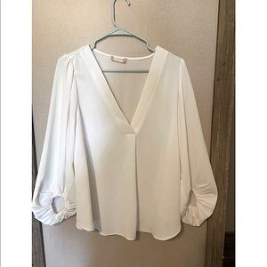White flowy Altard State blouse